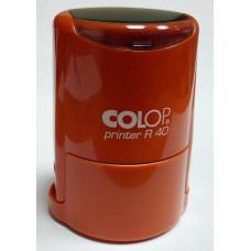 Colop Printer R40 cover Оснастка для печати диам. 40мм с крышкой оранжевая (orange)