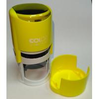 Colop Printer R40 cover Оснастка для печати диам. 40мм с крышкой неон лимон (neon lemon)