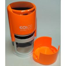 Colop Printer R40 cover Оснастка для печати диам. 40мм с крышкой неон оранжевый (neon orange)