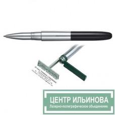 HERI 8521 ГЕЛЕВАЯ ручка-штамп «лакированный черный корпус» 33х8мм 3 строчки