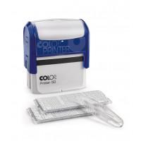 Colop Printer50 Set-F Самонаборный штамп с 2-мя кассами. 8 строк без рамки, 6 строк с рамкой пластик 69х30мм