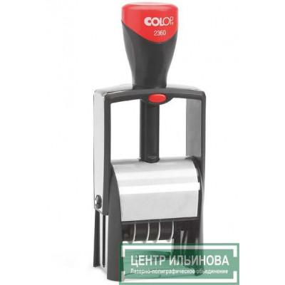 Colop S2360-Set Мет.самонаб. датер 4 строки с 2-мя кассами 45х30мм