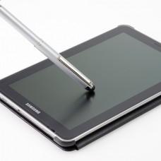 HERI V3300 ручка со штампом и стулусом для смартфона (серебряный корпус) 33х8мм 3 строчки