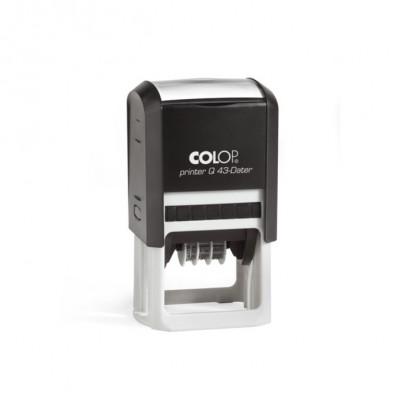 Colop PrinterQ43-Dater почтовый датер со свободным полем 43х43мм черная 8 цифр
