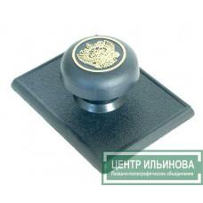 штамп-ручка Капля 55х70 со скотчем