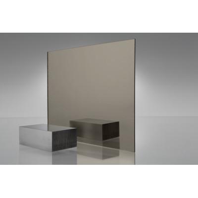 Двухслойный пластик для гравировки Metzoplast 2мм зеркальное серебро/чёрный