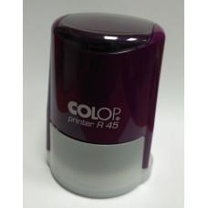 Colop PrinterR45 cover Оснастка для печати диам. 45мм с крышкой фиолетовая