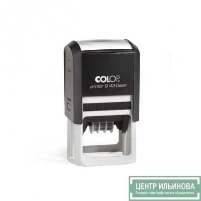 Colop PrinterQ43-Dater Датер со свободным полем 43х43мм черная дата буквами