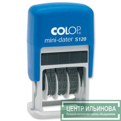 Colop S120/BL Мини-датер, высота шрифта 3,8мм (месяц букв.)