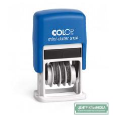 Colop S120/SD Мини-датер, высота шрифта 3,8мм (сокращ. дата)