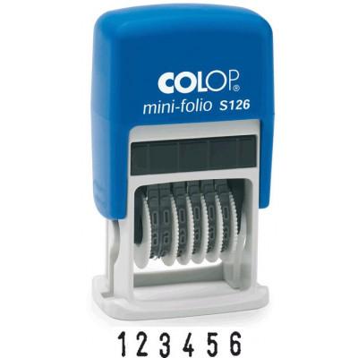 Colop S126 Мини-нумератор 6-разр., высота шрифта 3,8мм