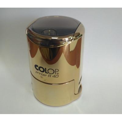Colop Printer R40 cover Оснастка для печати диам. 40мм с крышкой золотая (Gold)