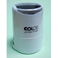 Colop Printer R40 cover Оснастка для печати диам. 40мм с крышкой белая (white)