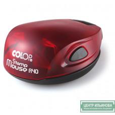 Colop Stamp Mouse R40 Оснастка мышка для печати диам. 40мм рубин (ruby)