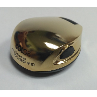 Colop Stamp Mouse R40 Оснастка мышка для печати диам. 40мм золото (Gold)