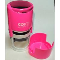 Colop Printer R40 cover Оснастка для печати диам. 40мм с крышкой неон розовый (neon pink)