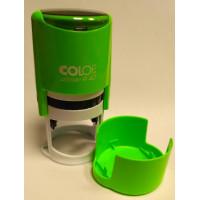 Colop Printer R40 cover Оснастка для печати диам. 40мм с крышкой неон зеленый (neon green)