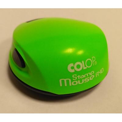 Colop Stamp Mouse R40 Оснастка для печати диам. 40мм неон зеленый (neon green)