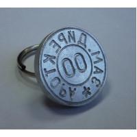 Металлическая печать ручка-кольцо алюминий d24