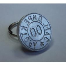 Металлическая печать ручка-кольцо алюминий d24 2 круга
