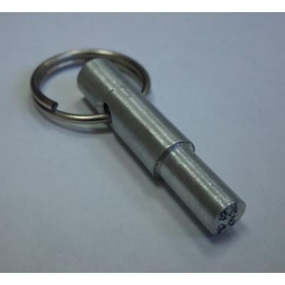 Тычковая металлическая печать ручка-кольцо алюминий d8мм