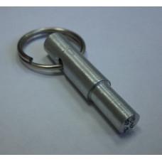 Тычковая металлическая печать ручка-кольцо алюминий d10мм