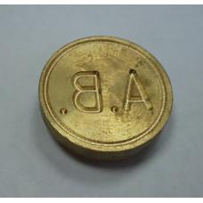 Металлическая печать ручка-кольцо латунь d25 2 круга