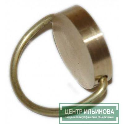 Металлическая печать двухсторонняя ручка-кольцо латунь d24