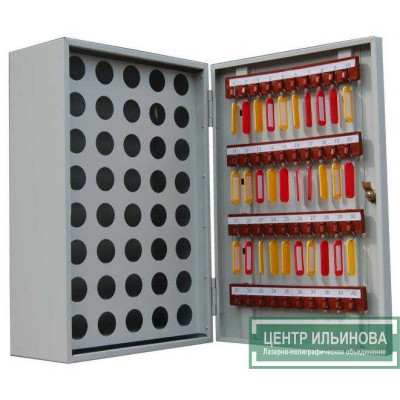 Шкаф - ключница на 40 ключей и 40 пеналов 525х350х180мм