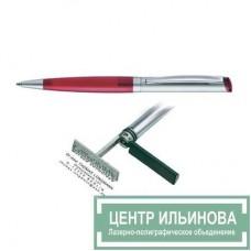 HERI 6041 DIAGONAL ручка-штамп красная 33х8мм 3 строчки