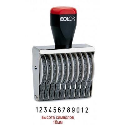 Colop 18012 Нумератор 12-разрядов, высота шрифта 18мм