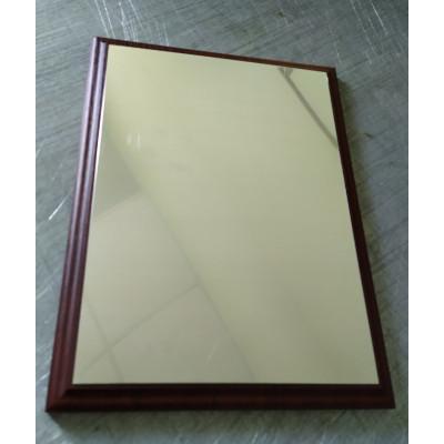 Заготовка под табличку для сублимации алюминий серебро сатин 200х270мм