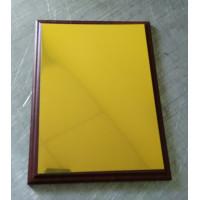Заготовка под табличку для сублимации алюминий золото сатин 200х270мм