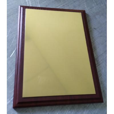 Заготовка под табличку для сублимации алюминий золото сатин 184х259мм