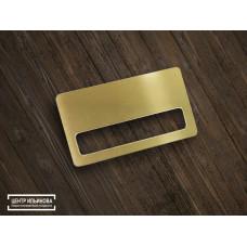 Заготовка для сублимации алюминий под бейдж цвет золото сатин 70х40мм с карманом