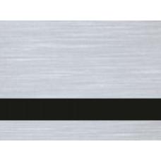 Двухслойный пластик для гравировки Rowmark 1,6мм серебро сатиновый/Чёрный